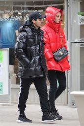Sophie Turner and Joe Jonas in Moncler Jackets - Soho 12/12/2018