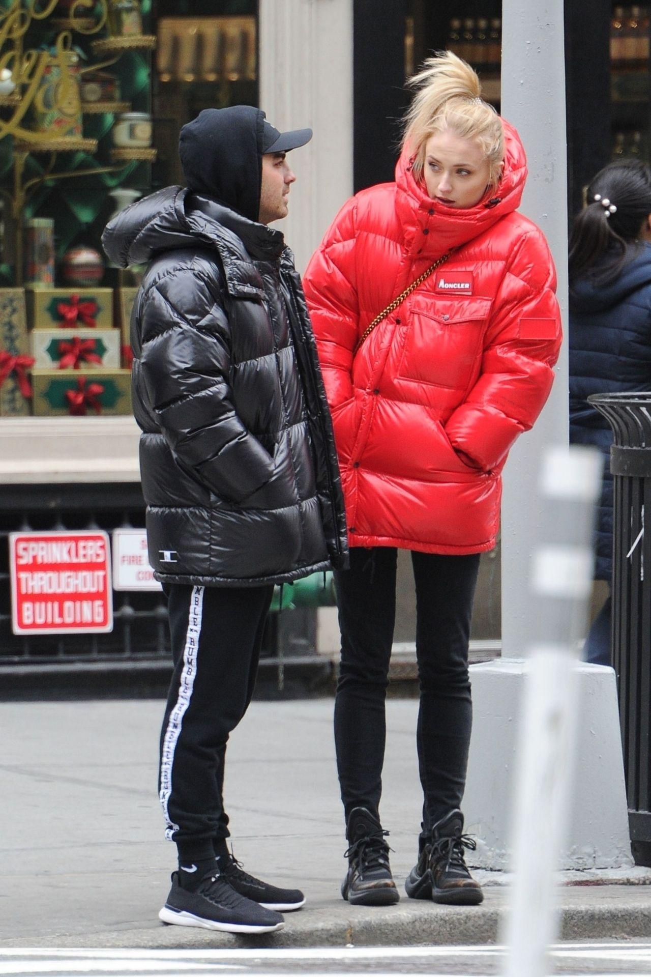 Sophie Turner And Joe Jonas In Moncler Jackets Soho 12 12 2018