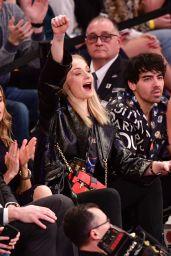 Sophie Turner, Joe Jonas and Nick Jonas - Phoenix Suns vs New York Knicks in NYC 12/17/2018