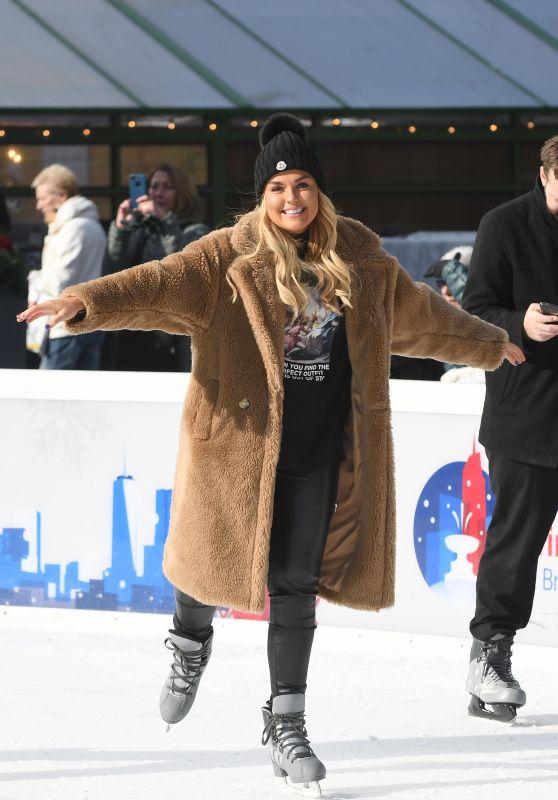 Tallia Storm - Ice Skating in Bryant Park in New York City 12/14/2018