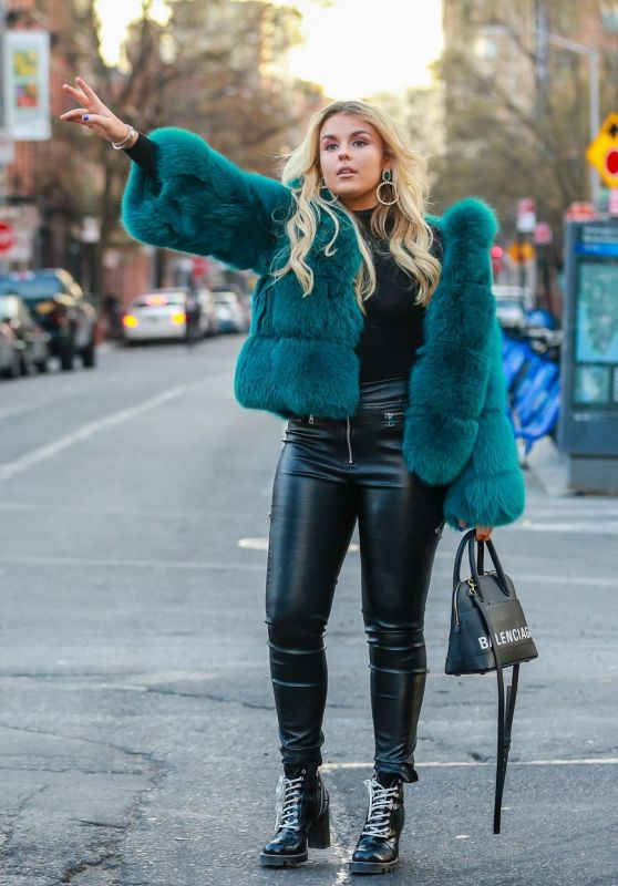 Tallia Storm is Stylish - Out in NYC 12/11/2018