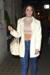 Tulisa Contostavlos - Leaving W7 Cosmetics Launch Party in London