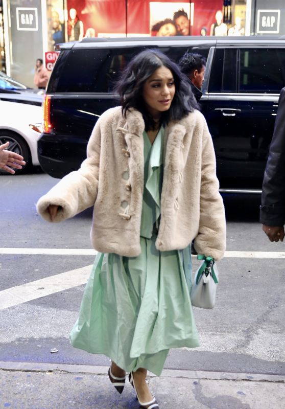 Vanessa Hudgens Arriving to Appear on GMA in NYC 12/13/2018