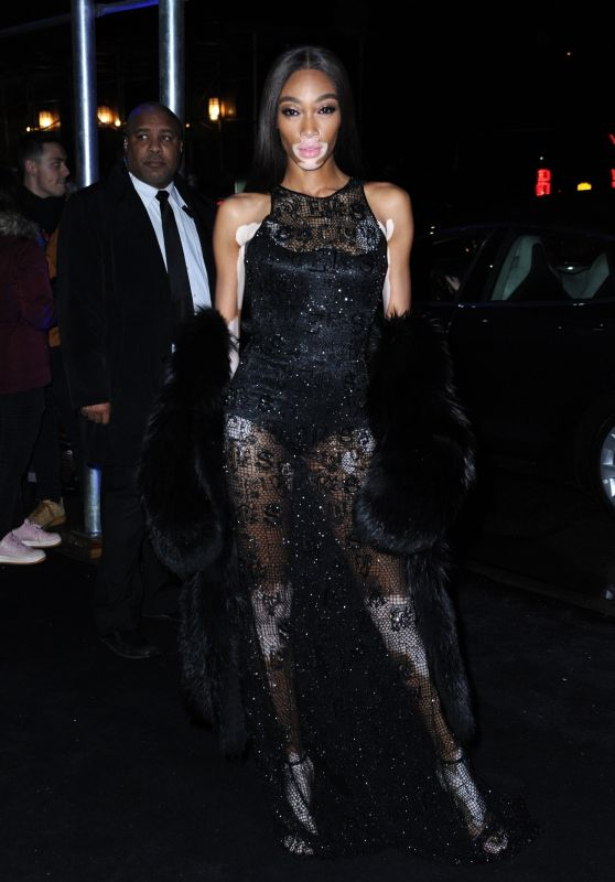 Winnie Harlow - Arriving to the Versace Pre-Fall 2019 Fashion Show in NY