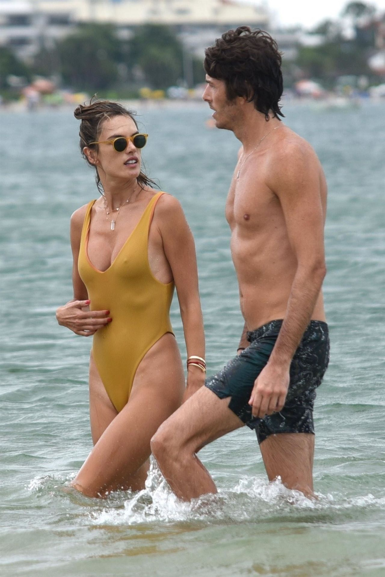 Alessandra Ambrosio In Swimsuit At The Beach In Brazil 01