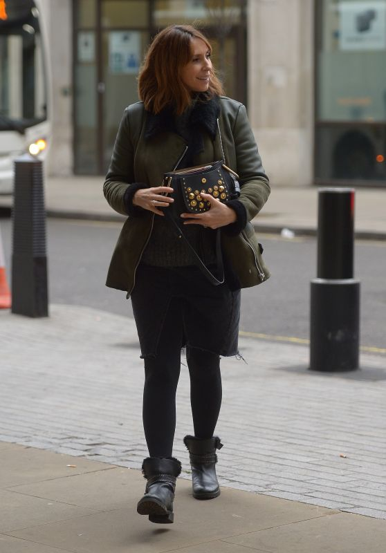 Alex Jones - Arriving at the One Show Studios in London 01/15/2019