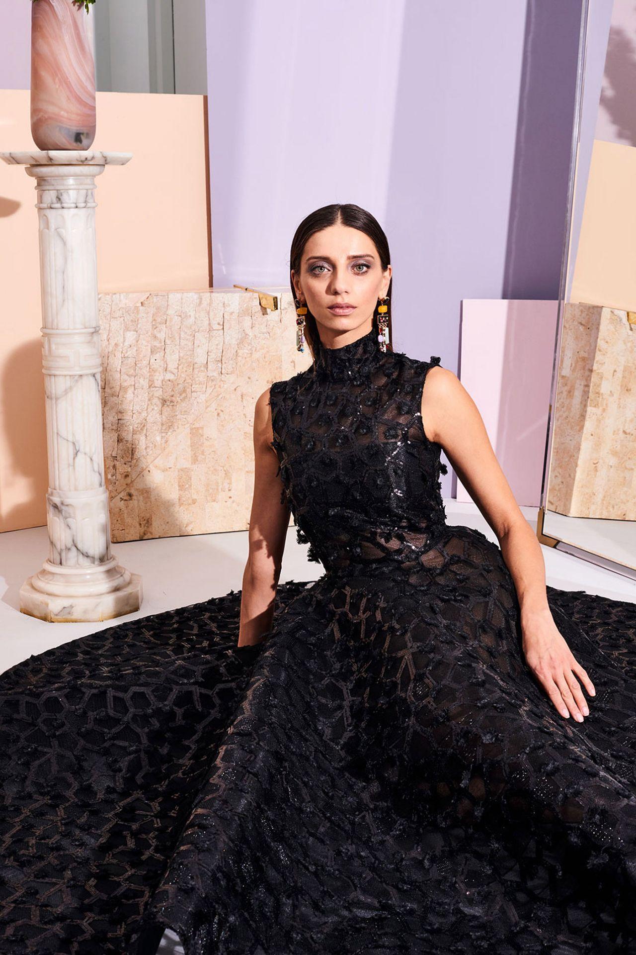 Angela Sarafyan - Christian Siriano Pre-Fall 2019 Fashion ...