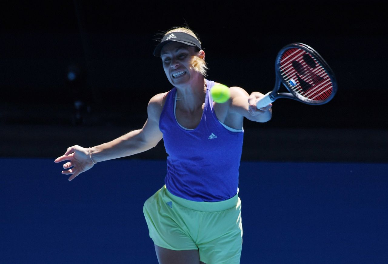 Angelique Kerber – Practicing in Melbourne 01/13/2019