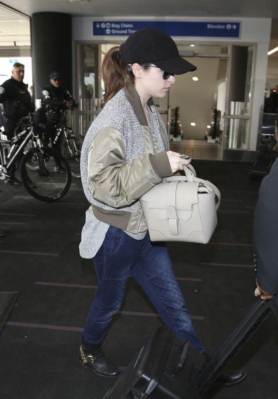 Anna Kendrick at LAX Airport in LA 01/10/2019
