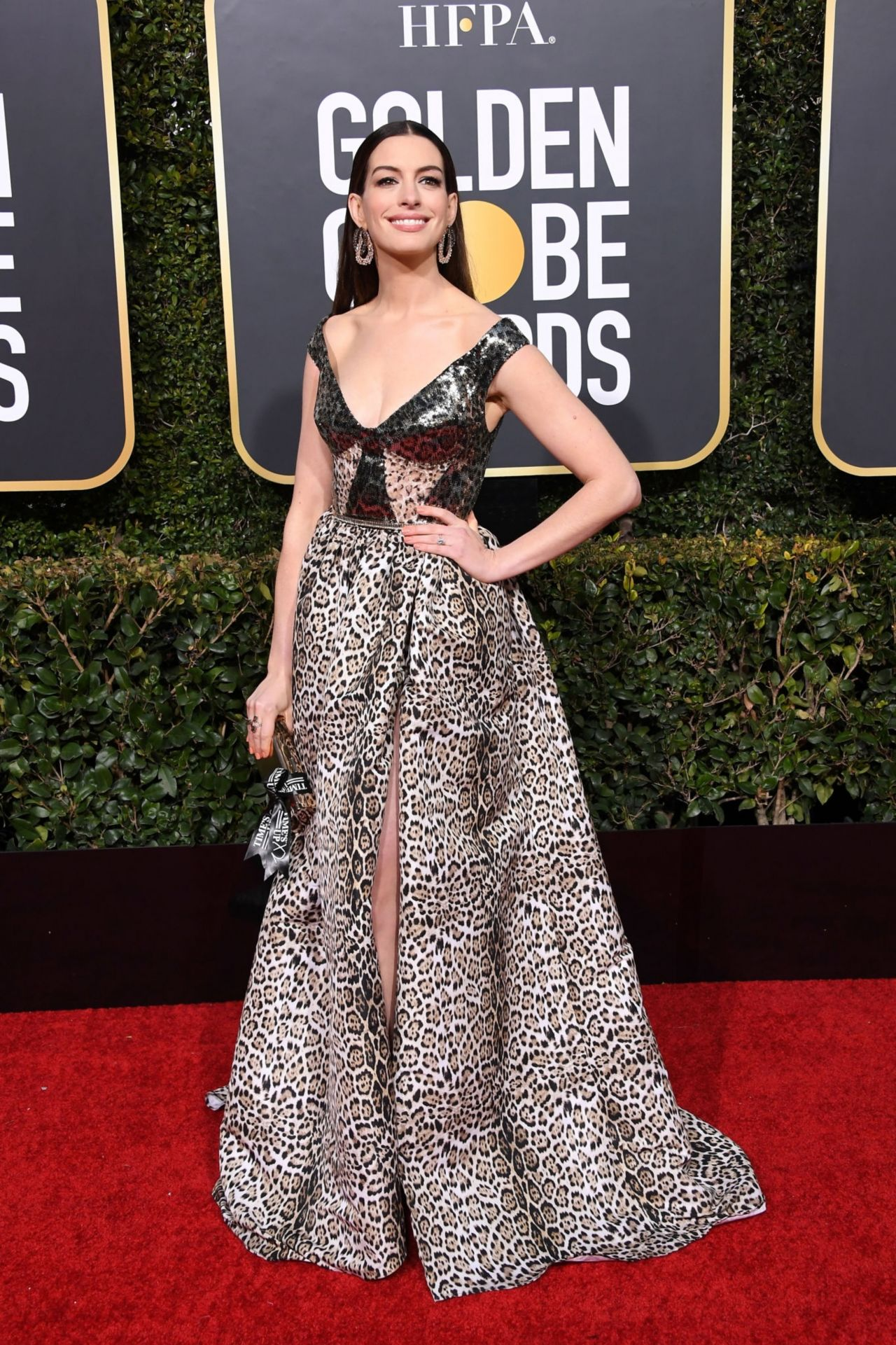Anne Hathaway 2019 Golden Globe Awards Red Carpet