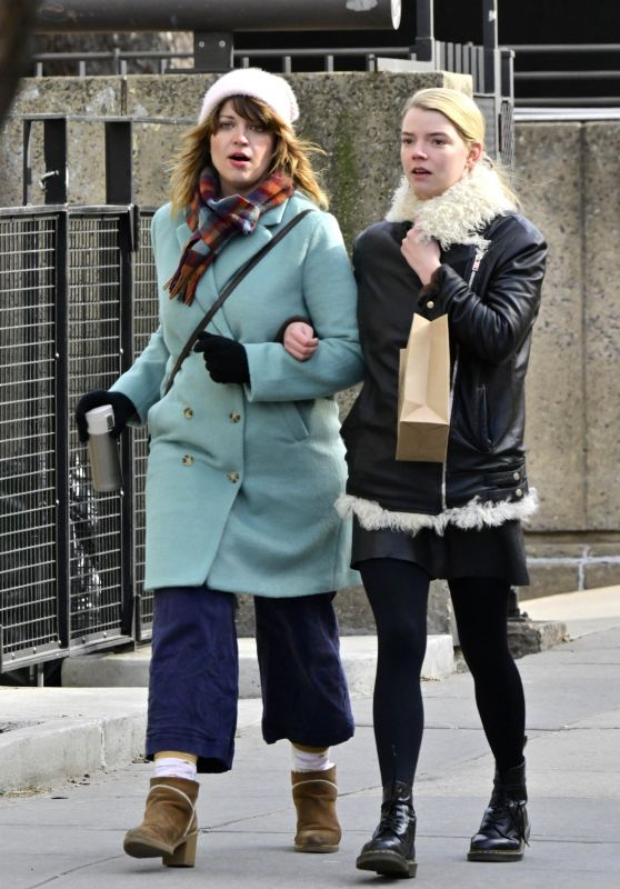 Anya Taylor-Joy - Shopping in Chilly NYC 01/19/2019