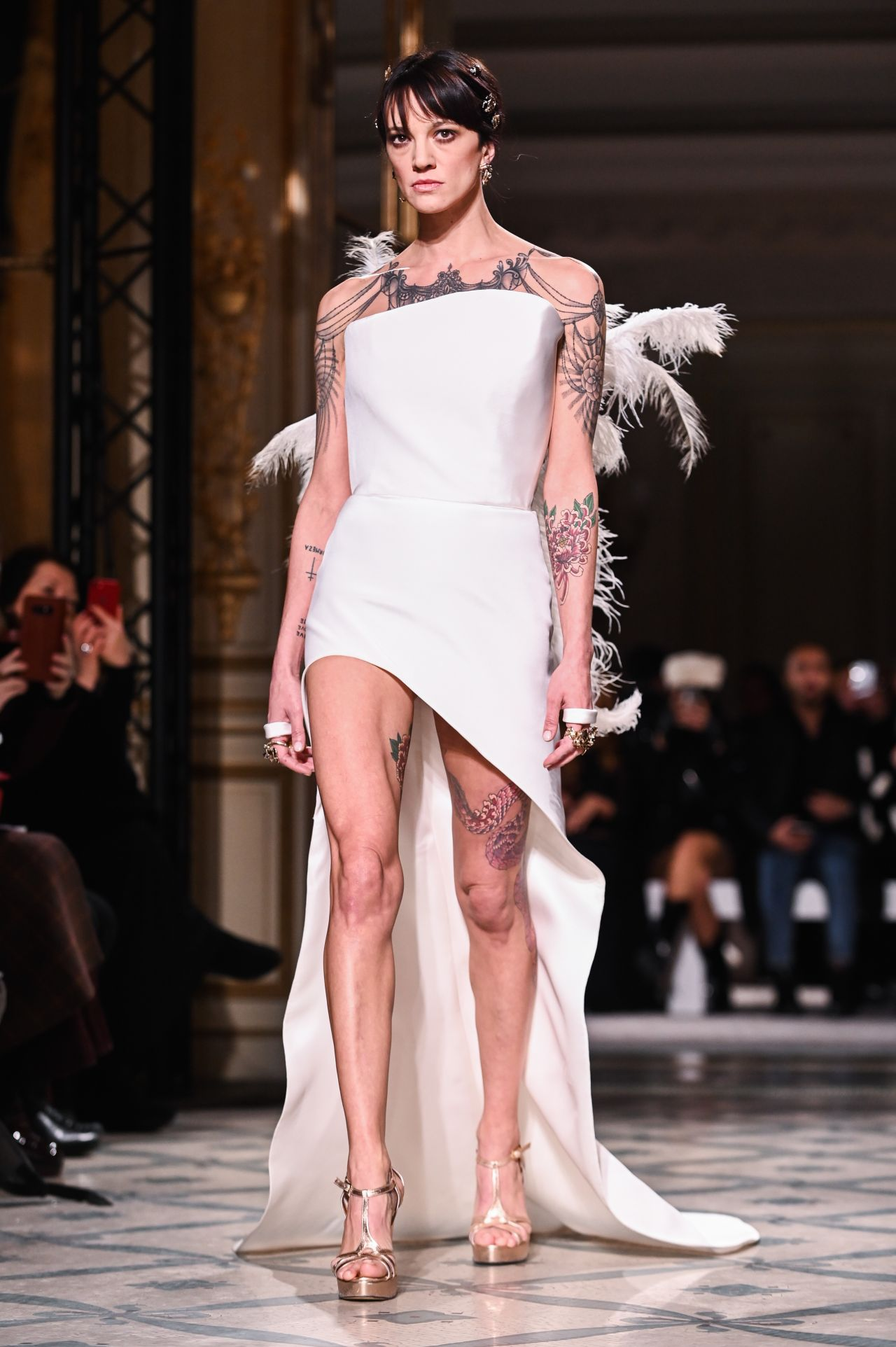 Asia Argento Walks Grimaldi Fashion Show In Paris 01212019