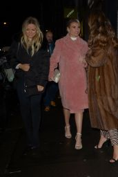 Billie Faiers and Sam Faiers - Arriving at 100 Wardour in London 01/26/2019