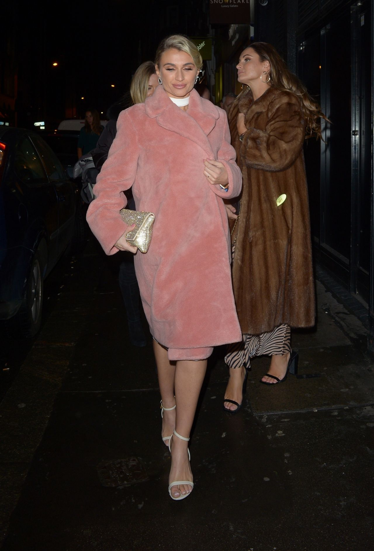 Billie Faiers And Sam Faiers Arriving At 100 Wardour In
