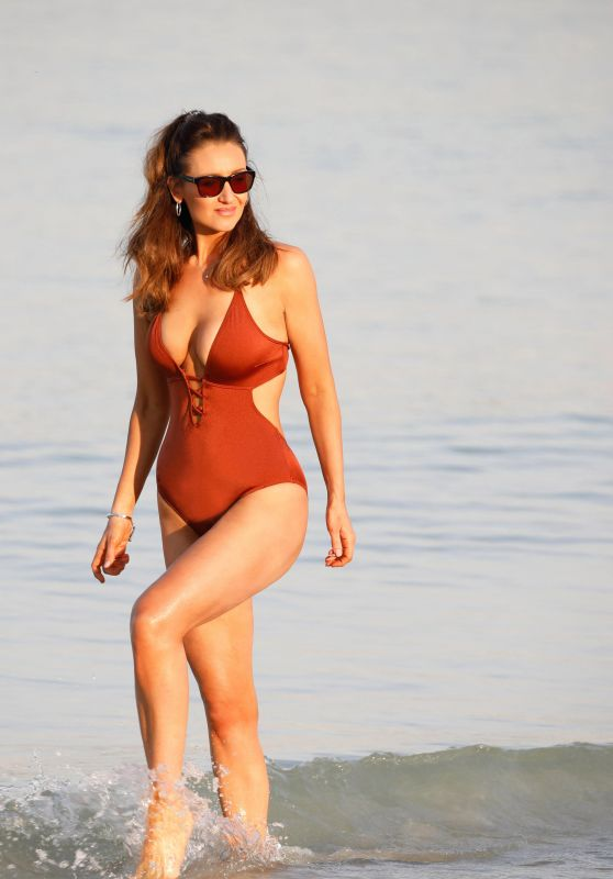 Catherine Tyldesley in Swimsuit 12/30/2018