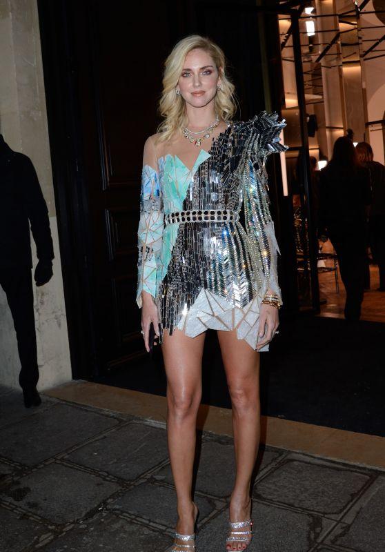 Chiara Ferragni – Balmain Haute Couture Spring-Summer 2019 Show in Paris