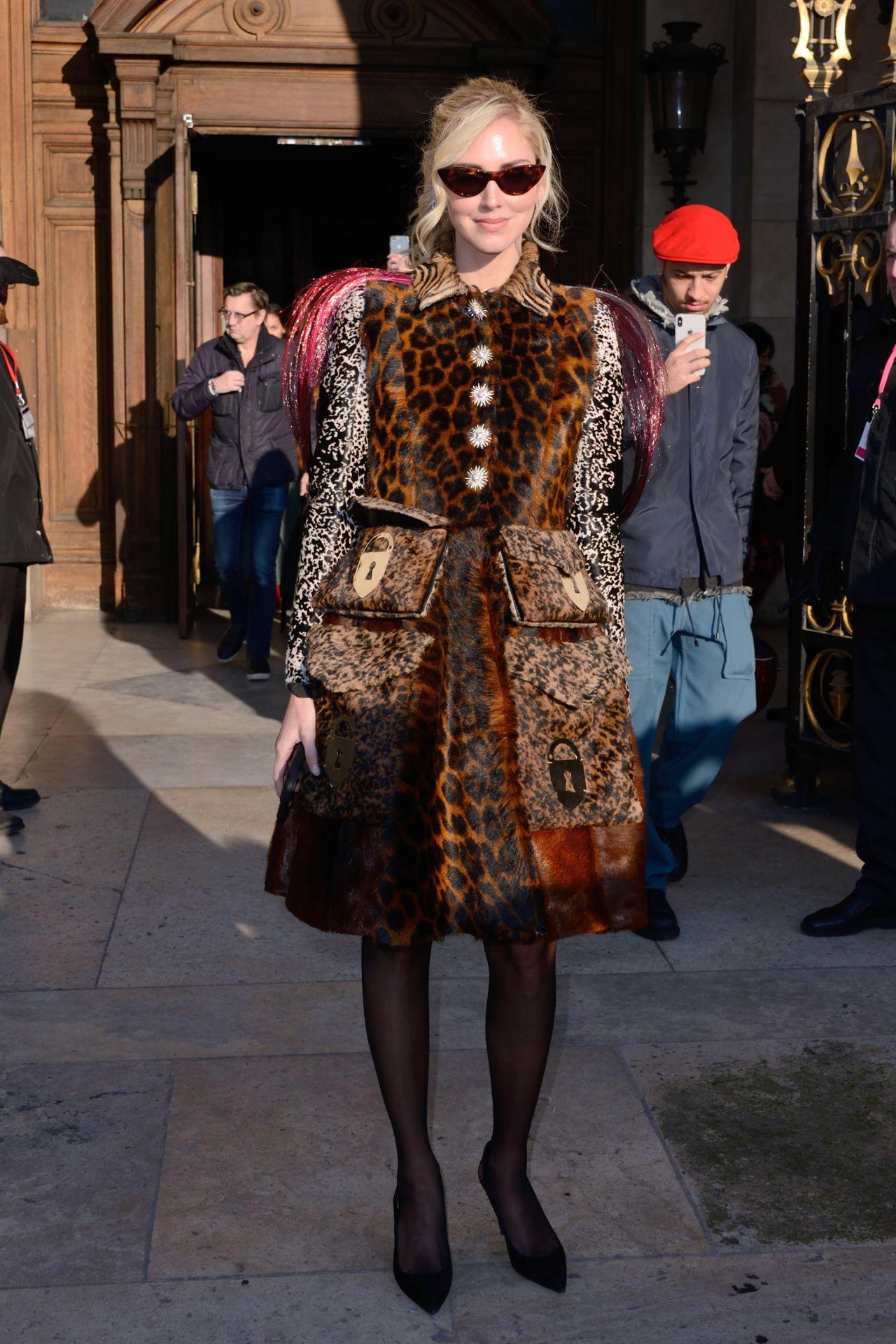 Chiara Ferragni – Schiaparelli Haute Couture Fashion Show ...