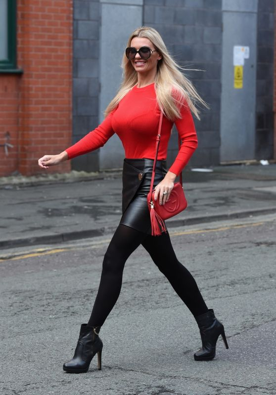 Christine McGuinness Style and Fashion - Manchester City Center 01/08/2019