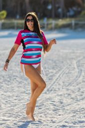 Claudia Romani - Beach in South Beach 01/15/2019