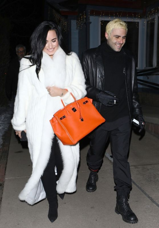 Demi Lovato and Henri Levy in Aspen 01/02/2019