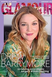 Drew Barrymore - Glamour UK January 2019