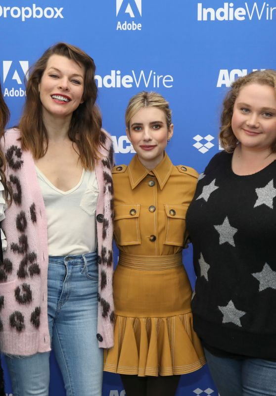 Eiza Gonzalez, Emma Roberts, Milla Jovovich – IndieWire Sundance Studio 01/26/2019