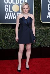 Elisabeth Moss – 2019 Golden Globe Awards Red Carpet