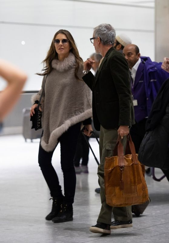 Elizabeth Hurley at Heathrow Airport in London 01/05/2019