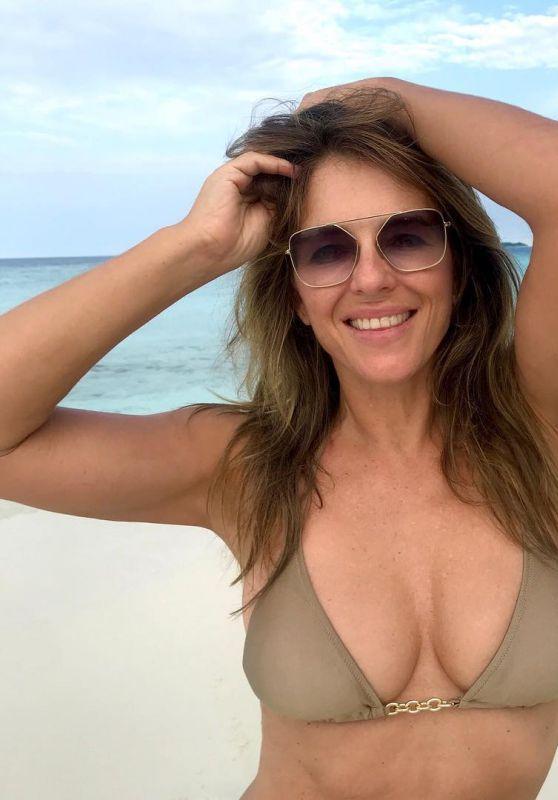 Elizabeth Hurley in Bikini 01/29/2019