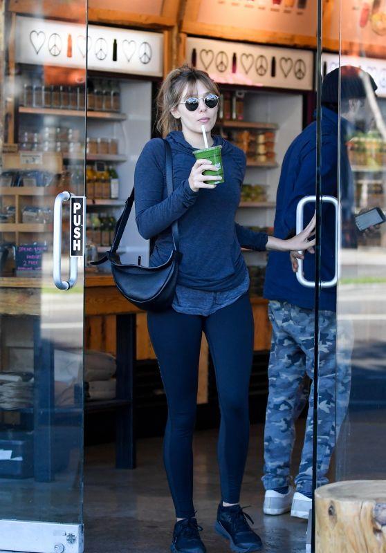 Elizabeth Olsen - Leaving a Coffee Bar in LA 01/03/2019