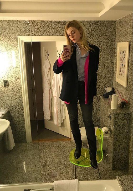 Elle Fanning - Personal Pics 01/27/2019