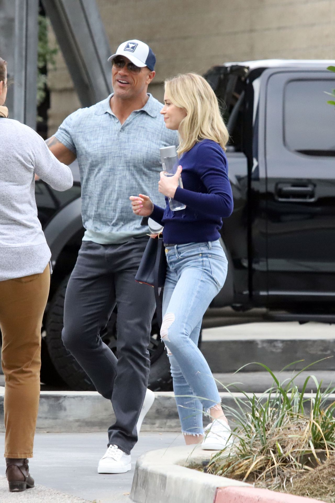 Emily Blunt And Dwayne Johnson