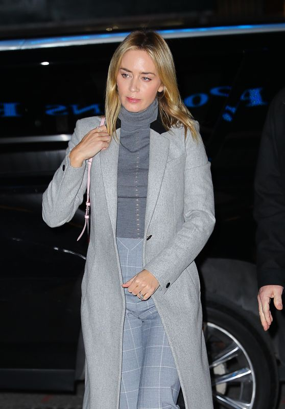 Emily Blunt Style - Out in New York 01/18/2019