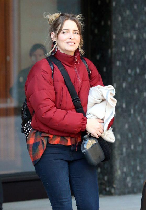 Emma Atkins Street Style - Outside ITV Studios in London 01/22/2019