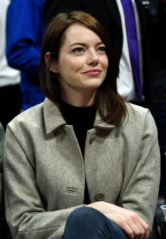 Emma Stone - Golden State Warriors v Los Angeles Clippers Basketball Game in LA 01/18/2019