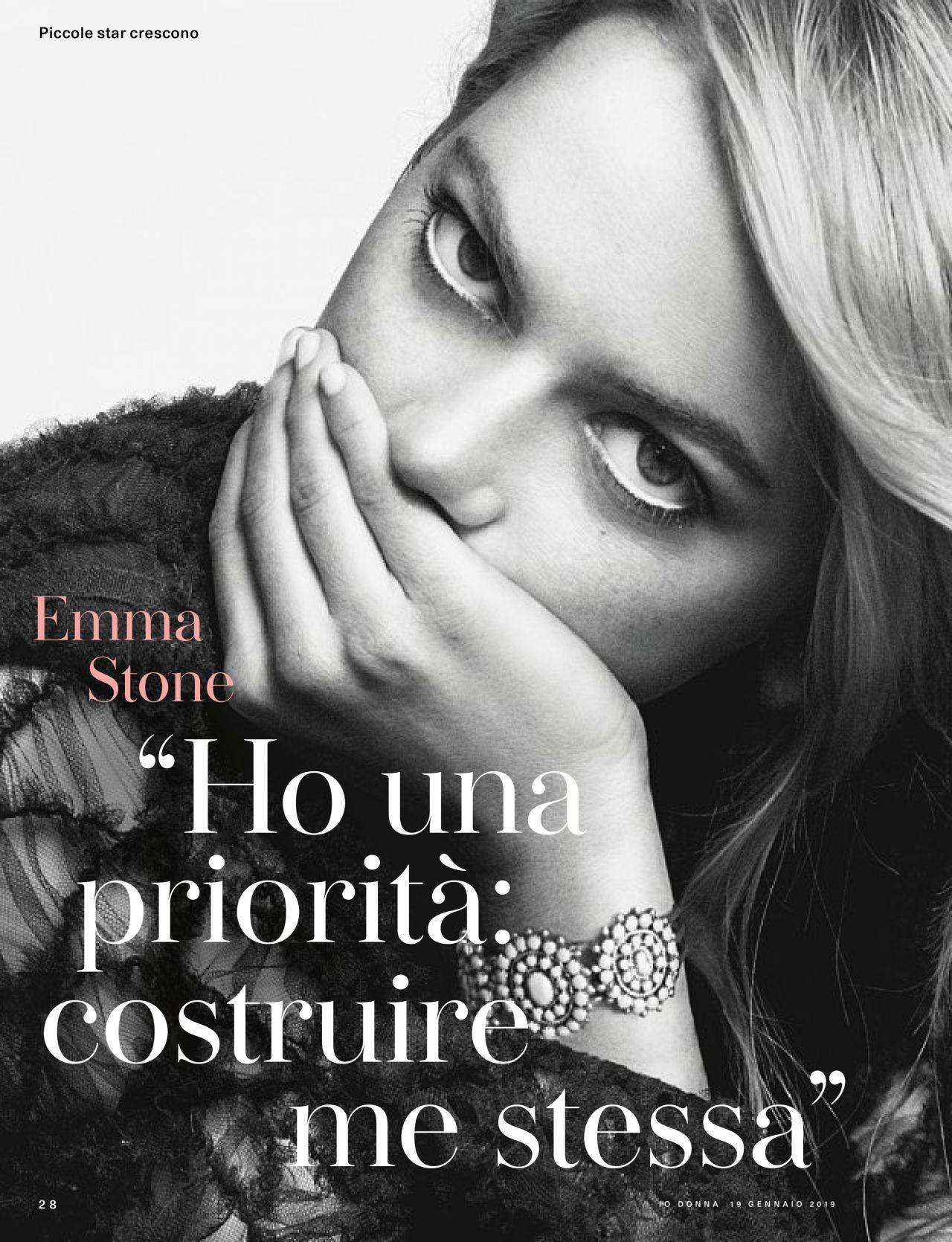 Emma Stone – Io Donna del Corriere Della Sera 01/19/2019