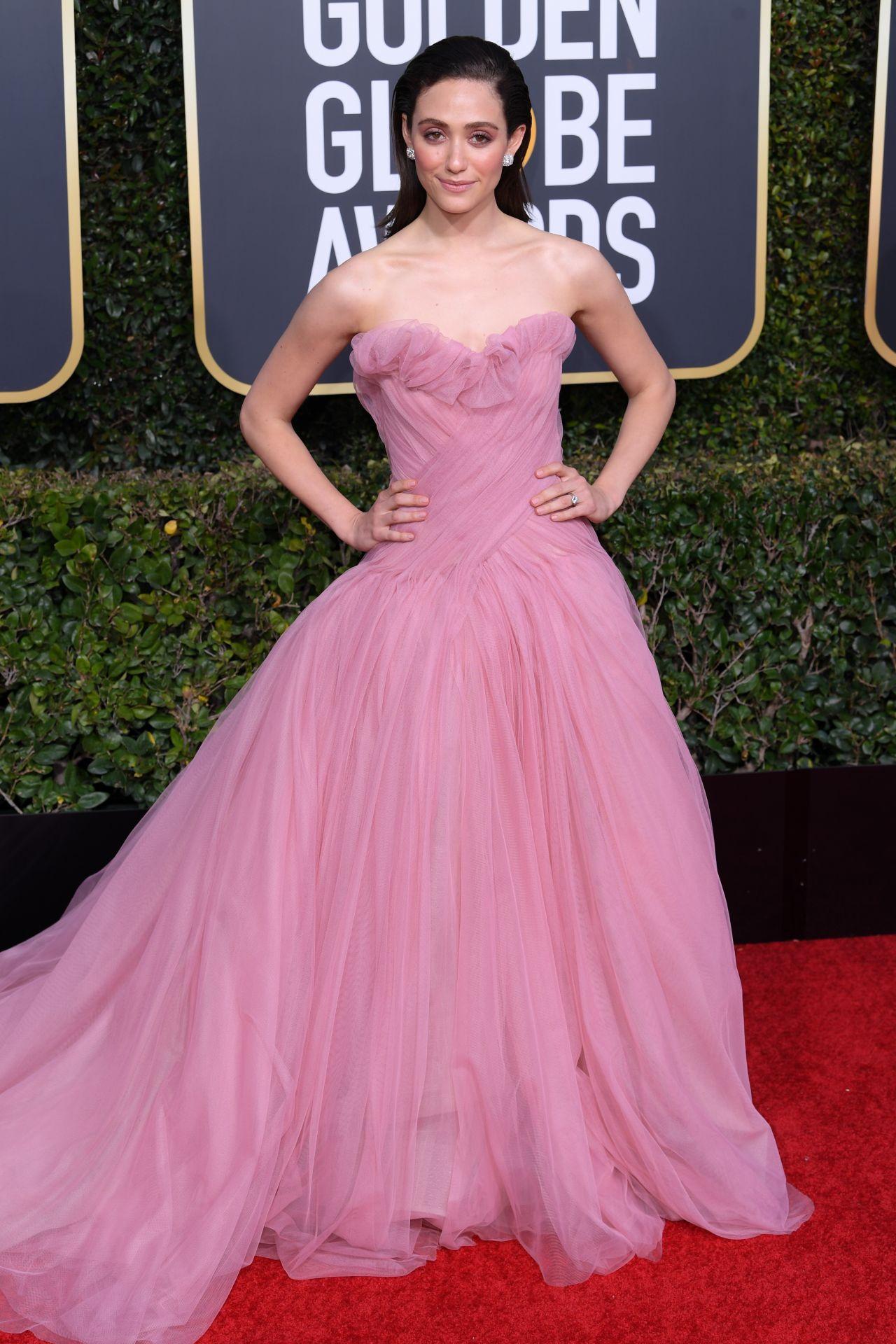 Emmy Rossum 2019 Golden Globe Awards Red Carpet