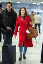 Emmy Rossum in Travel Outfit 01/14/2019