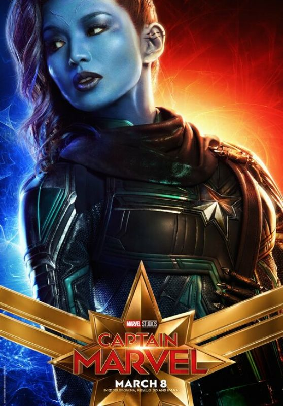 "Gemma Chan - ""Captain Marvel"" Poster"