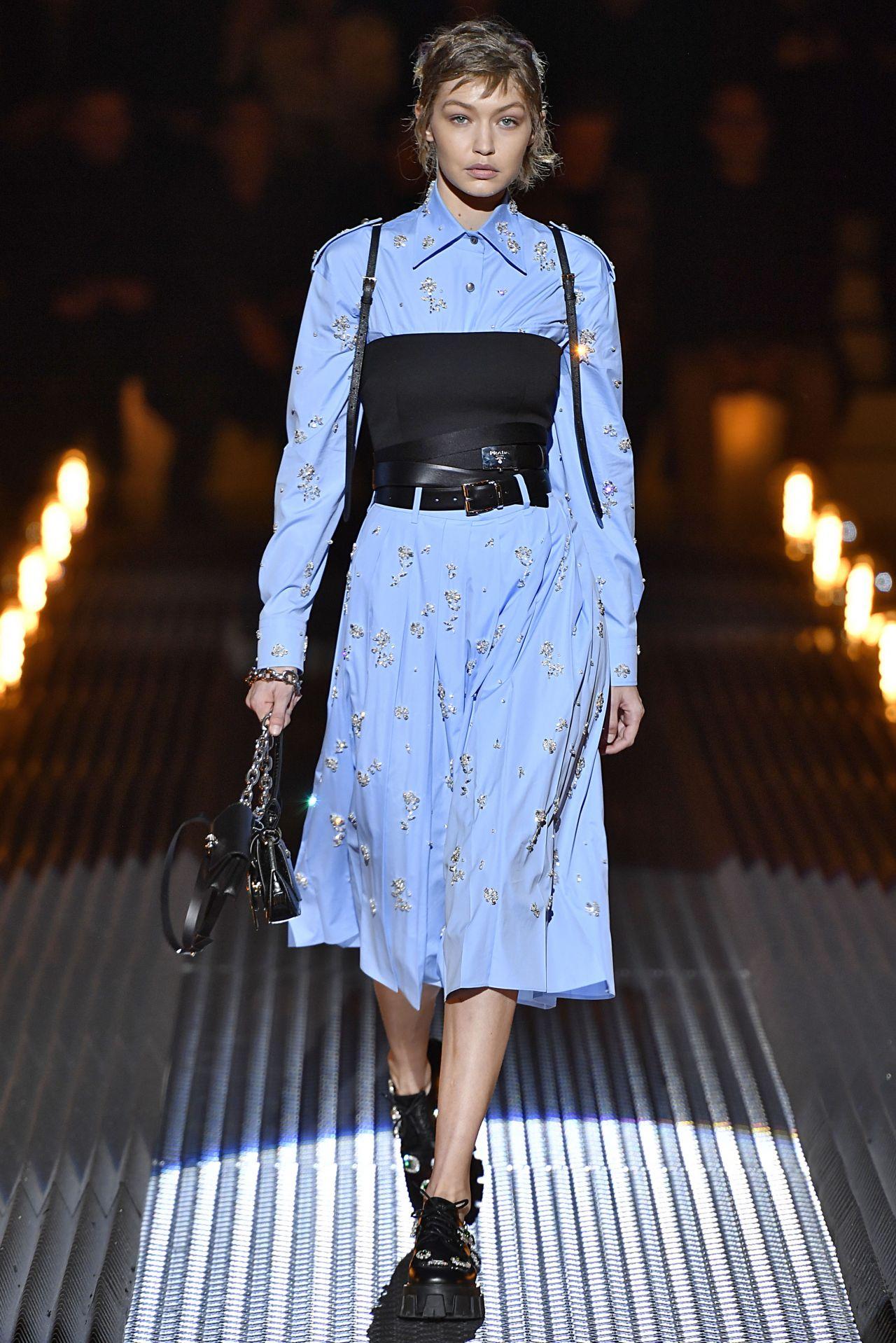 Gigi Hadid Walks Prada Show In Milan 01 13 2019