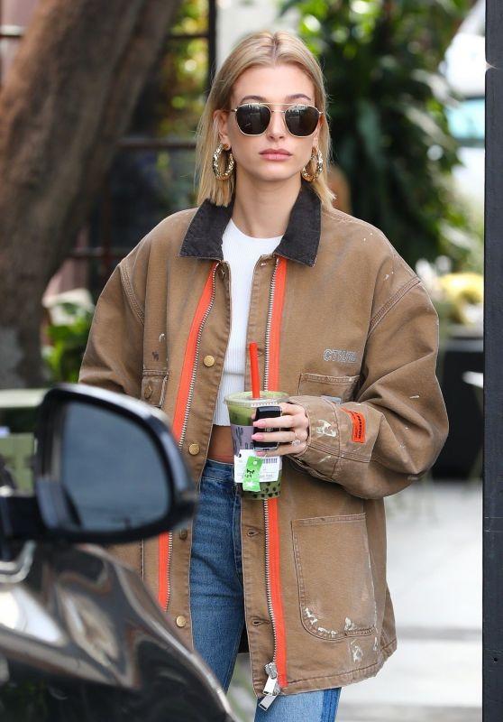 Hailey Rhode Bieber at Hair Salon in Los Angeles 01/22/2019