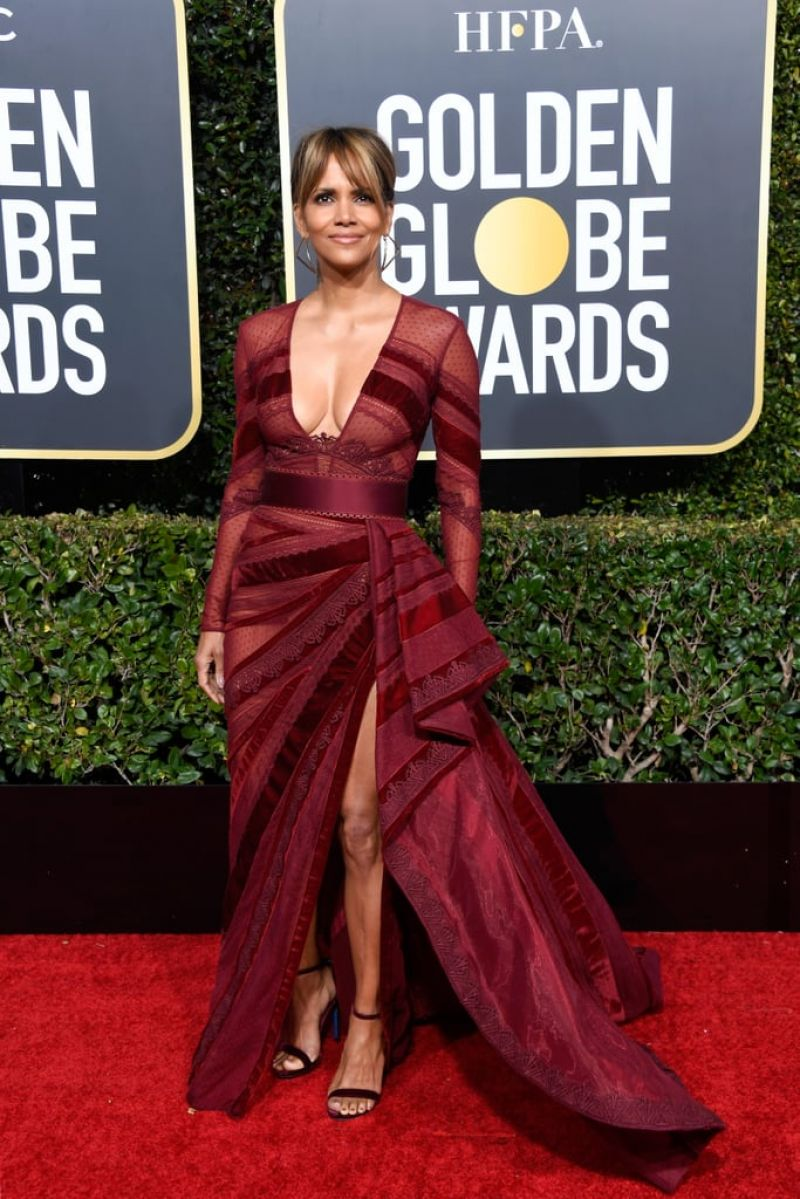 Halle Berry 2019 Golden Globe Awards Red Carpet