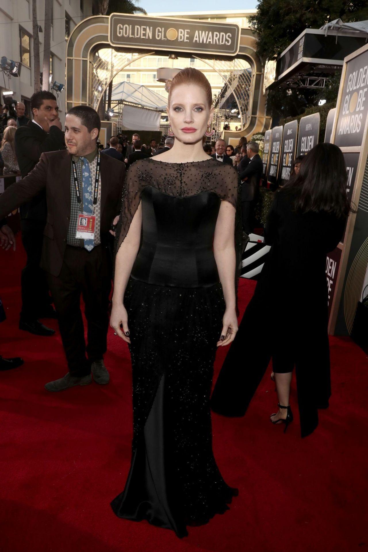 Jessica Chastain 2019 Golden Globe Awards Red Carpet
