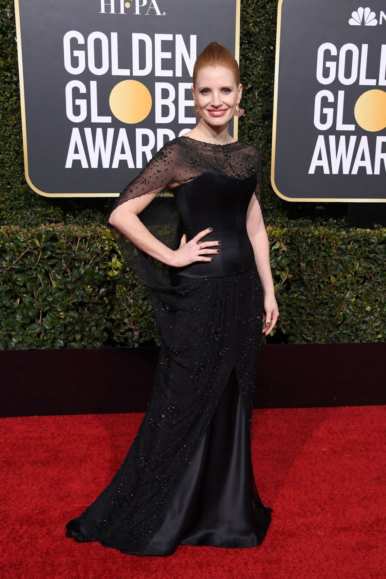 Jessica Chastain 2019 Golden Globe Awards Red Carpet