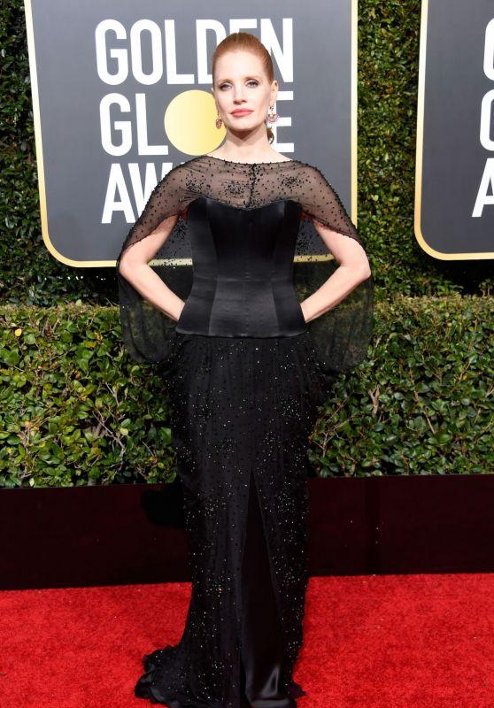 Jessica Chastain – 2019 Golden Globe Awards Red Carpet