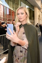 Karlie Kloss - Outside the Haute-Couture S/S 2019 Christian Dior Fashion Show in Paris 01/21/2019