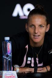 Karolina Pliskova – Talks to the Press, Australian Open 01/21/2019