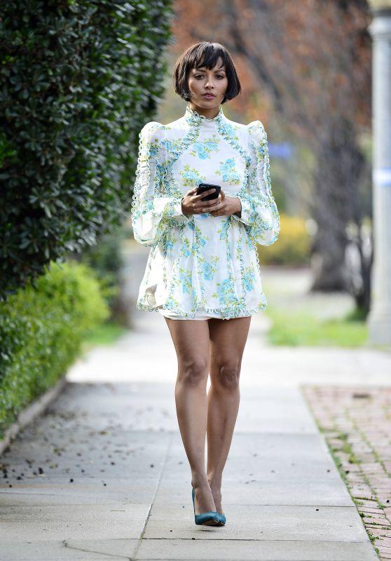 Kat Graham in Mini Dress 01/09/2019