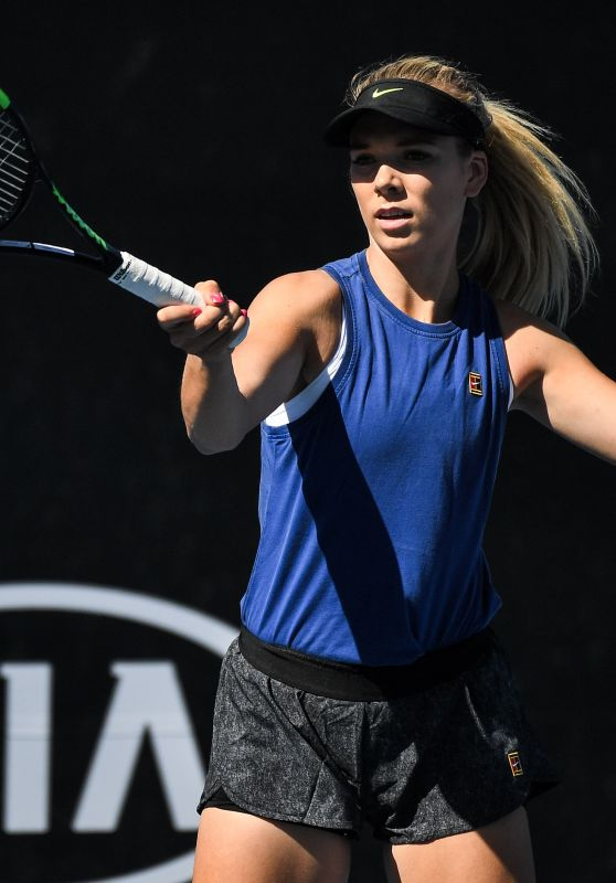 Katie Boulter – Practicing in Melbourne 01/13/2019