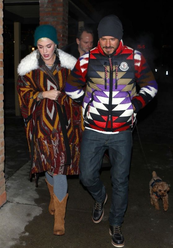 Katy Perry and Orlando Bloom in Aspen 01/02/2019